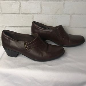 Clark's Bendables Ankle Boot Leather 8.5 Brown